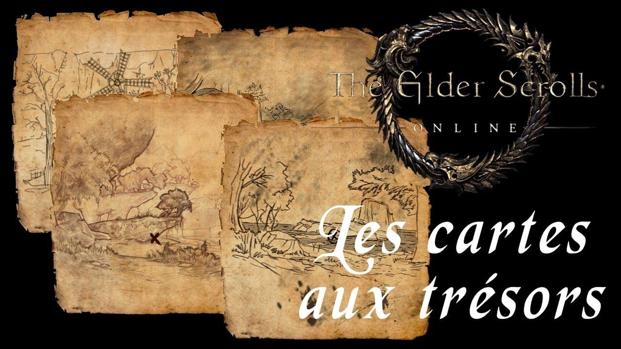 Elder Scrolls Online Les Cartes aux Trésors - YouTube