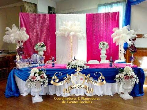 Faos events decoracion de salon e iglesia royal plata - Decoracion para salon ...