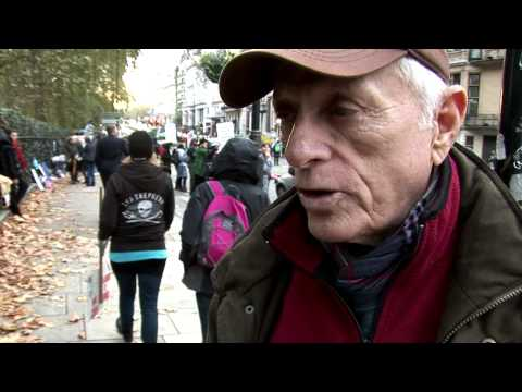 Ric O'Barry London Against The Dolphin Massacre, Protest - Taiji Japan 07-11-14