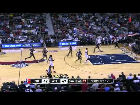 NBA, playoff 2014, Pacers vs. Hawks, Round 1, Game 3, Move 27, Lance Stephenson, steal