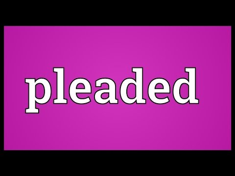 Header of Pleaded