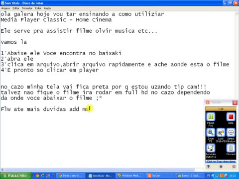 Como assistir filme no programa Media Player Classic - Home Cinema.FLV