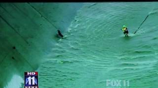 LAFD Technical Rescue, Dog Plucked from L.A. River