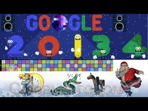 Поздравления С Новым Годом! Doodle Google 2014