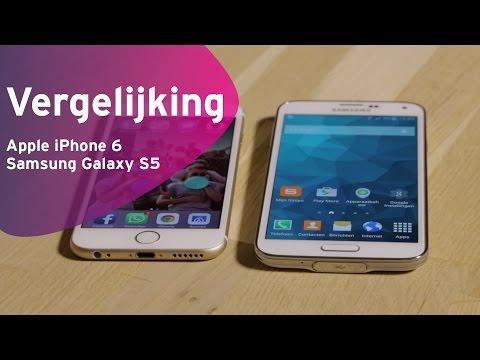 Apple iPhone 6 vs Samsung Galaxy S5 review (Dutch)