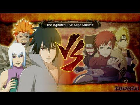 Naruto Ultimate Ninja Storm 3 Sasuke Vs The Kage S-Rank Legend (English)