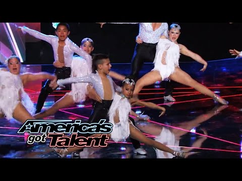 Baila Conmigo: Salsa Group Dancer Falls During Performance - America's Got Talent 2014