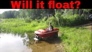 Beaver amphibious vehicle, water test 1st time in 25 years