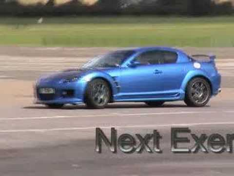 Advanced driving in a mazda rx8