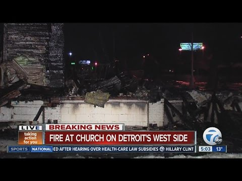 Fire at a church on Detroit's west side