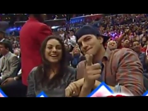 Mila Kunis & Ashton Kutcher Pregnant & Caught on Kiss Cam!