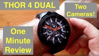 "ZEBLAZE THOR 4 DUAL (Two Cameras) 4G Android 7.1.1 ""Always Time"" Smartwatch: One Minute Overview"