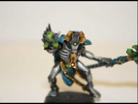 Warhammer 40K Painting Tutorial - How to Paint a Necron Cryptek