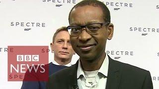 Bombed. Photobombed by James Bond live on BBC News