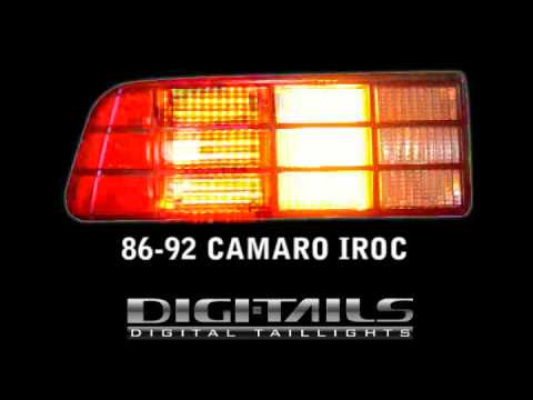Digi Tails 1986 92 Camaro Iroc Sequential Led Tail Lights Youtube
