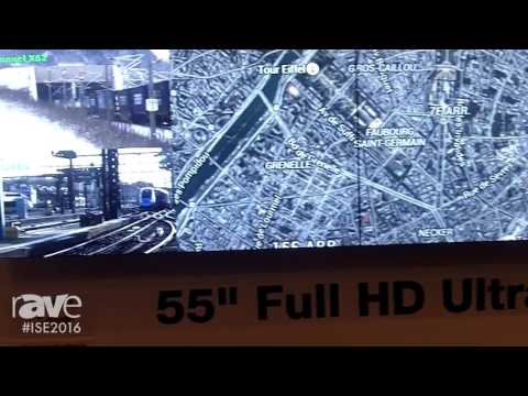 ISE 2016: Mitsubishi Electric Highlights LM55P2 55-Inch Full HD Ultra Narrow Bezel LCD