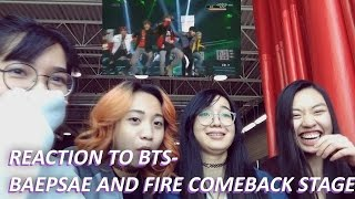 download lagu Reaction To Bts - Baepsae And Fire Comback Stage gratis