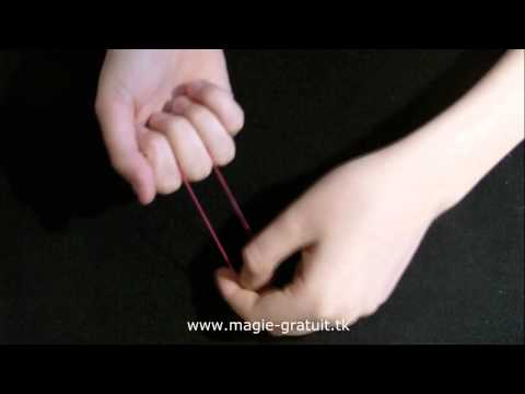 L'élastique magique + explication ( tour de magie facile )