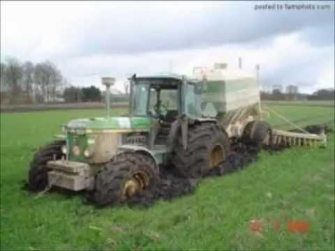 Accident Tracteur Brulerembourber Collision De