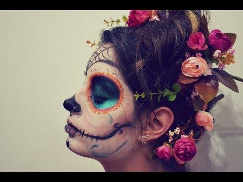 Maquiagem de Caveira Mexicana/ Sugar Skull - Halloween