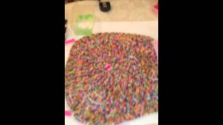 Loom Band dress - Day 3 video 9 - See how the loom band dress is put together !