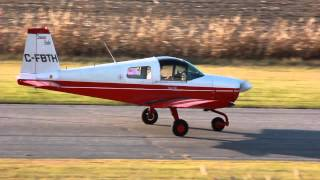 [HD] American Aviation AA-1A Trainer Landing and Taxiing CSU3