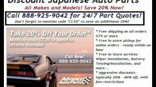 Discount Japanese Auto Parts - 24/7 Quotes by Phone