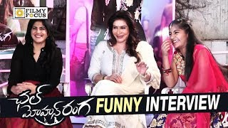 Chal Mohana Ranga Movie Team Funny Interview || Megha Akash, Lissy, Nithin - Filmufocus.com