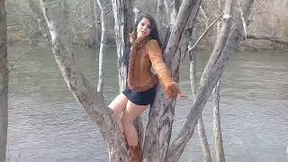 Abby in the trees