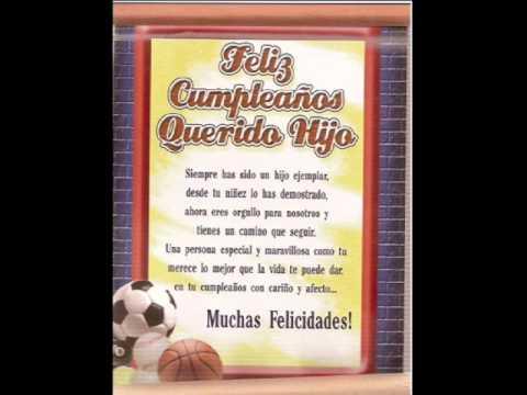 Feliz Cumpleaños a mi querido hijo!! - YouTube