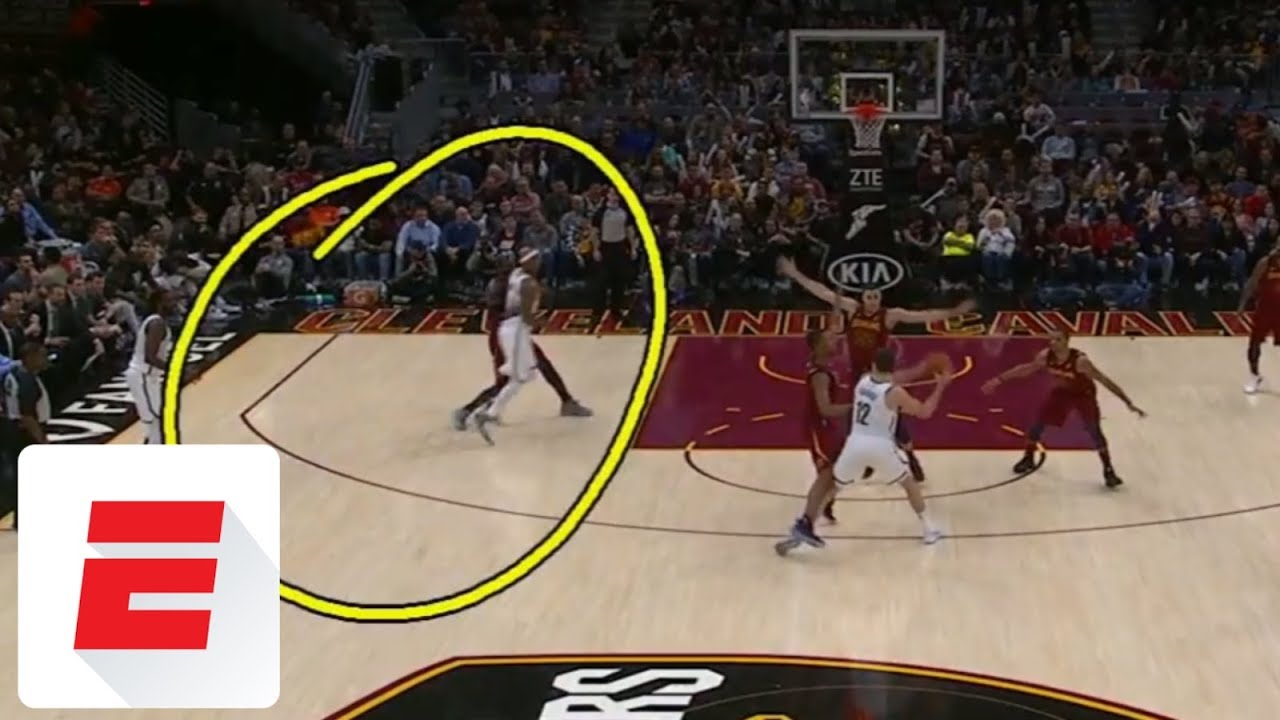 LeBron James takes elbow to the throat | ESPN