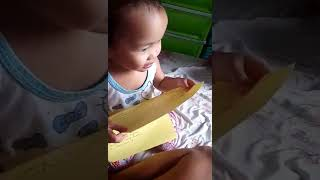 our baby trying to read😂😂pangpa good vibes😊