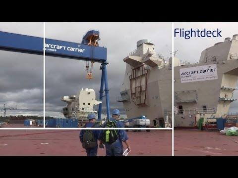 Construction Continues on HMS Queen Elizabeth (R08) [HD]