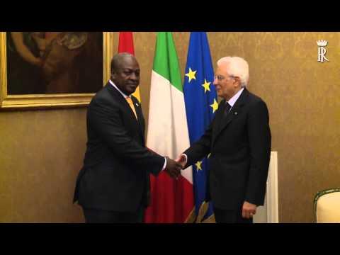 Roma - Mattarella ha ricevuto il Presidente del Ghana John Dramani Mahama (16.07.15)