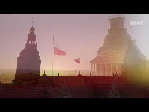 Flaga Polski W Szczecinie. 100 Lat Niepodległości Polski. GONTI
