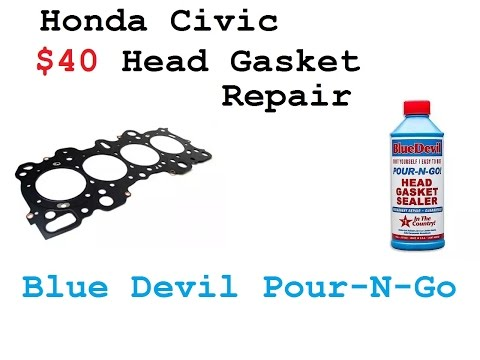 Honda Civic 1.6 Head Gasket Repair - Blue Devil Pour-N-Go Review