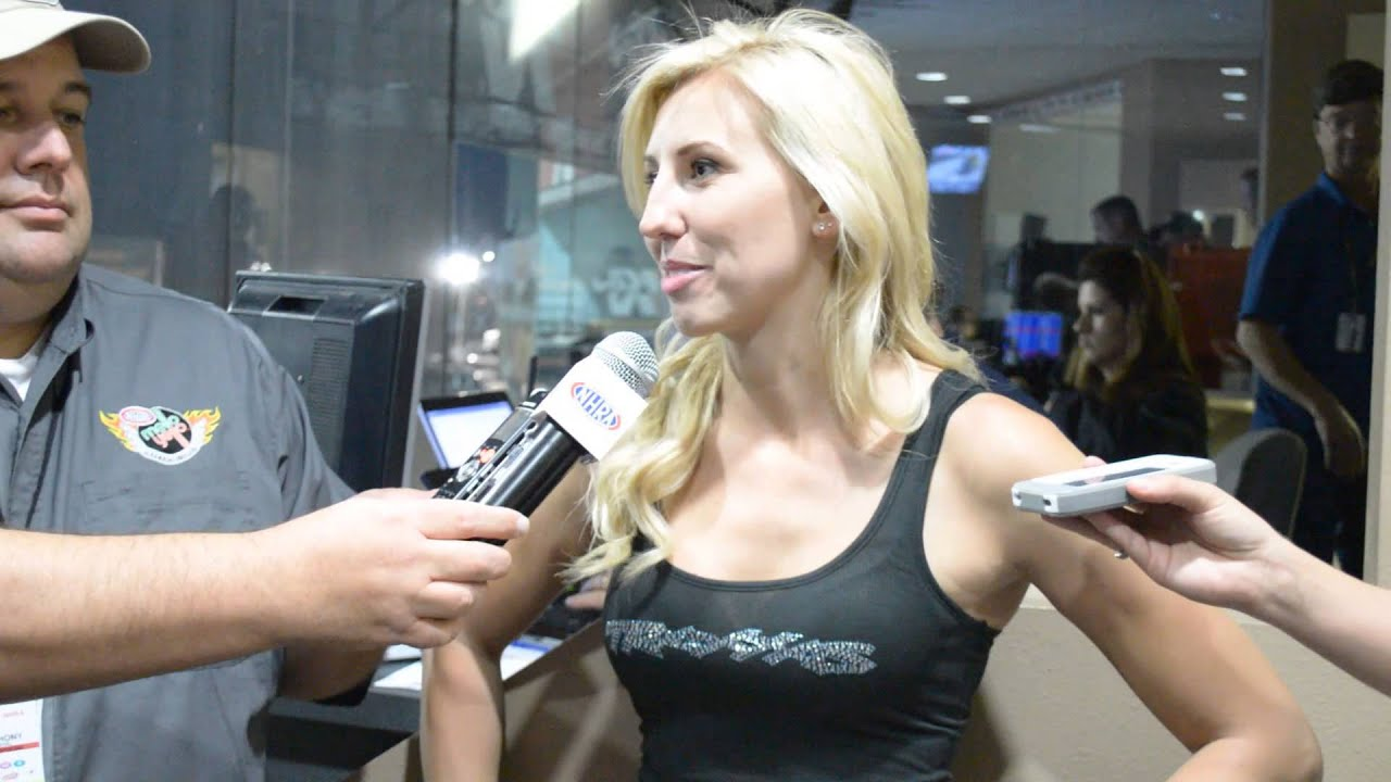 Courtney Force In The Press Room Friday At The 2013 Nhra