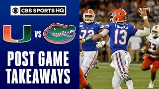 No. 8 Gators fight through penalties, turnovers to beat Canes | NCAA Football | CBS Sports HQ