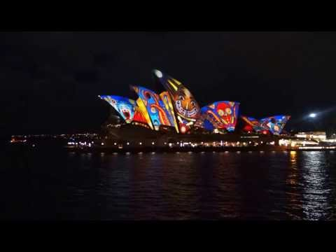 Vivid Sydney Lighting Festival 24 May 2013 - Sydney Opera House - Cruise view