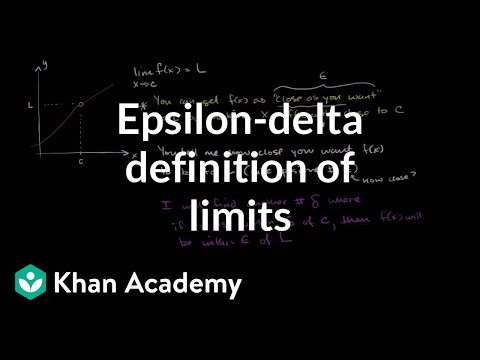 Epsilon-delta definition of limits
