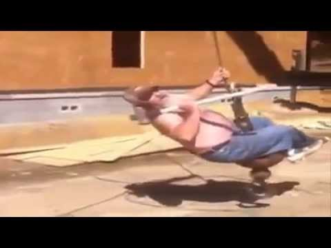 Old Man / Worker singing Wrecking Ball  **Must See**