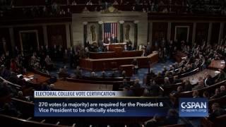 Vice President Biden certifies Electoral College Results (C-SPAN)