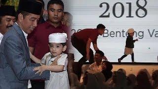 Video Viral Tingkah Lucu Jan Ethes Buat Paspampres Kewalahan saat Diajak Jokowi Hadiri Acara di Solo