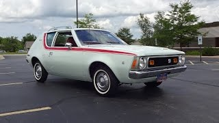 1971 American Motors AMC Gremlin in Snow White Paint & Start Up on My Car Story with Lou Costabile