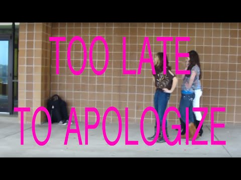 Too Late To Apologize (bullying Video) video