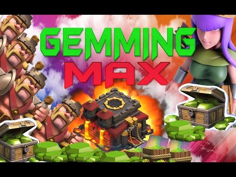 """CLASH OF CLANS - $1800! GEMMING TO MAX TOWN HALL 10 / GEM SPREE!""""MAX B..."""