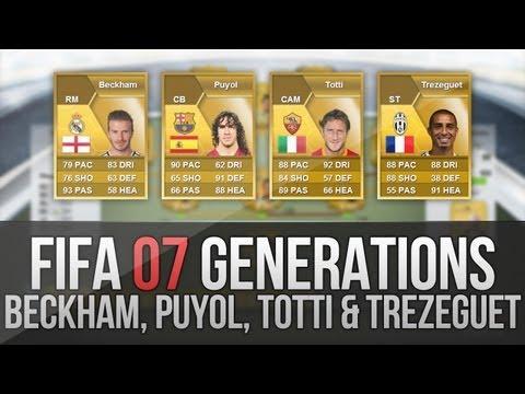 FIFA 07 Generations   Beckham. Totti. Puyol and Trezeguet