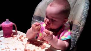 Baby loves rice + beans
