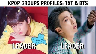 KPOP GROUPS PROFILES | TXT & BTS