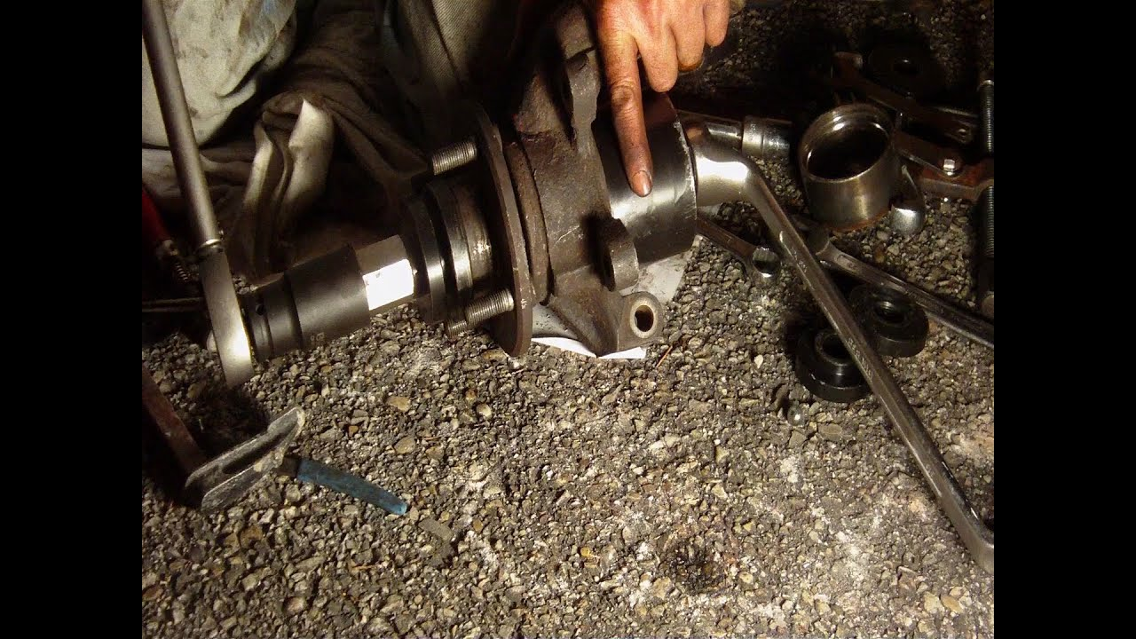 Front Wheel Bearing Change Step By Step Youtube